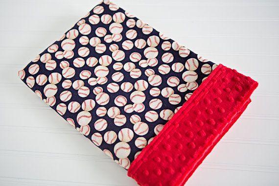 Baseball Baby Blanket on Etsy, $38.00