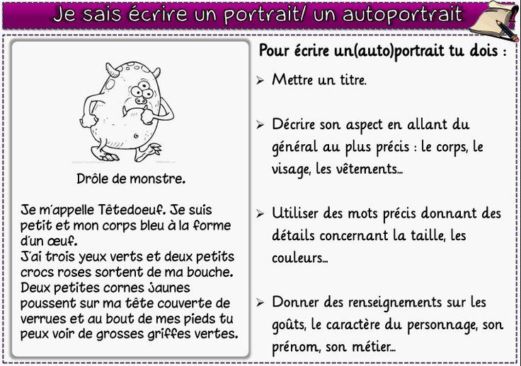 5) Ecrire un portrait ou un autoportrait - lagedeclasse2
