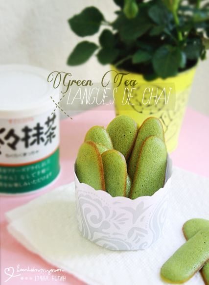 Green Tea Langues de Chat, or cat tongue cookies, make for some delectable treats.