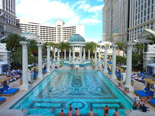 The Best Pools in Las Vegas: Caesars Palace Las Vegas Pool                                                                                                                                                                                 More