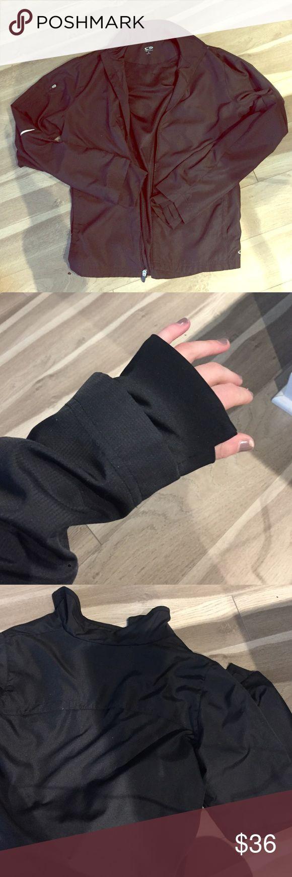 CHAMPION BLACK WIND BREAKER JACKET Easy throw on black windbreaker jacket with thumb holes in sleeves. CHAMPION Brand from target. Listed as lululemon for branding purposes! lululemon athletica Jackets & Coats