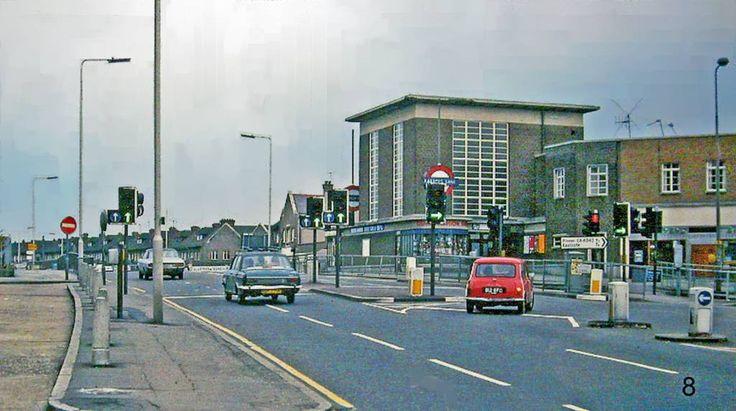 Rayners Lane Metropolitan Line Station. View south on Alexandra Avenue 2nd April 1978
