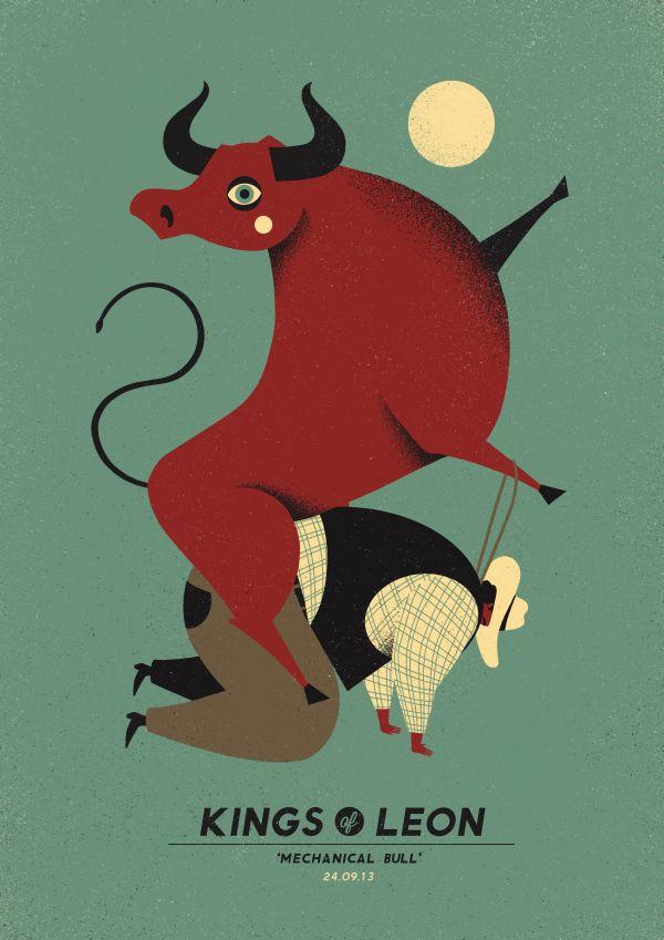 Kings of Leon - gig poster - Dawid Ryski