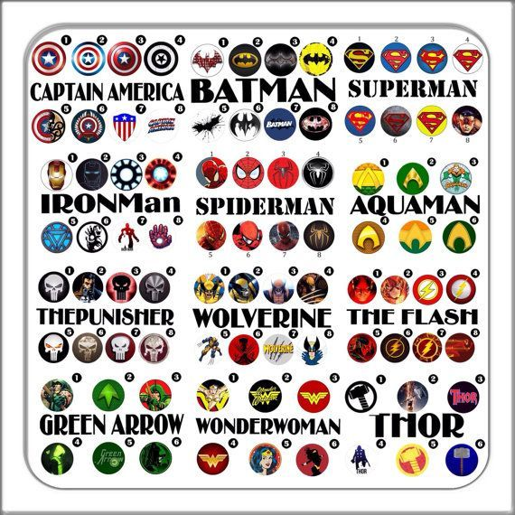 6 pairs bundle sets super hero Cufflinks custom logo by boloties