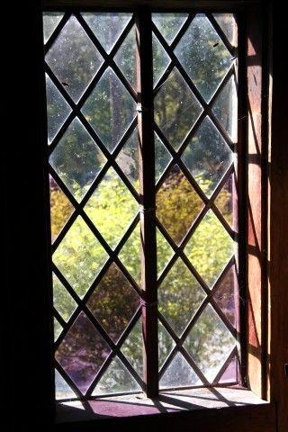 Diamond windows -Eleazer Arnold House    WhatnotGems.com~love these Tudor revival style windows.
