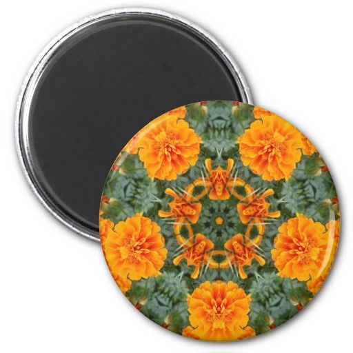 Mandala - Orange Marigold #1 refrigerator magnet