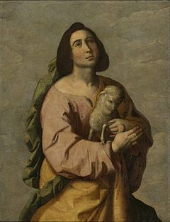 Saint Agnes, Virgin, martyr of Rome. was a young girl who was killed because she refused to marry, having dedicated herself to Christ.