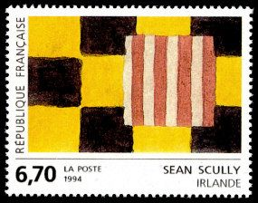 Sean Scully - Irlande Art contemporain en Europe - Timbre de 1994