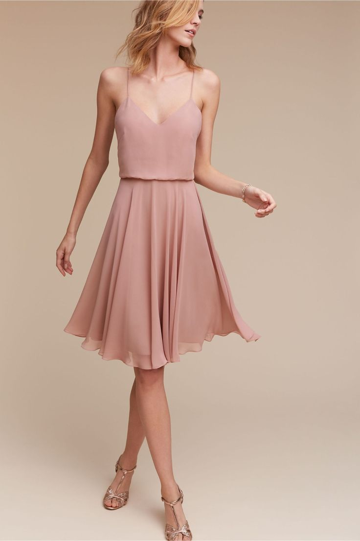 short maids option   Sienna Dress in Rose Quartz from BHLDN