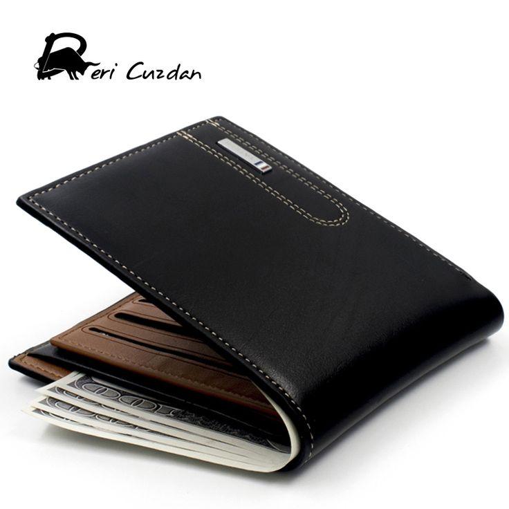 DERI CUZDAN Qualität Herren Brieftasche Aus Echtem Leder Männliche Handtasche mit Kreditkarte Tasche Klassische Brieftasche Männer Geld Taschen Cartera Hombre