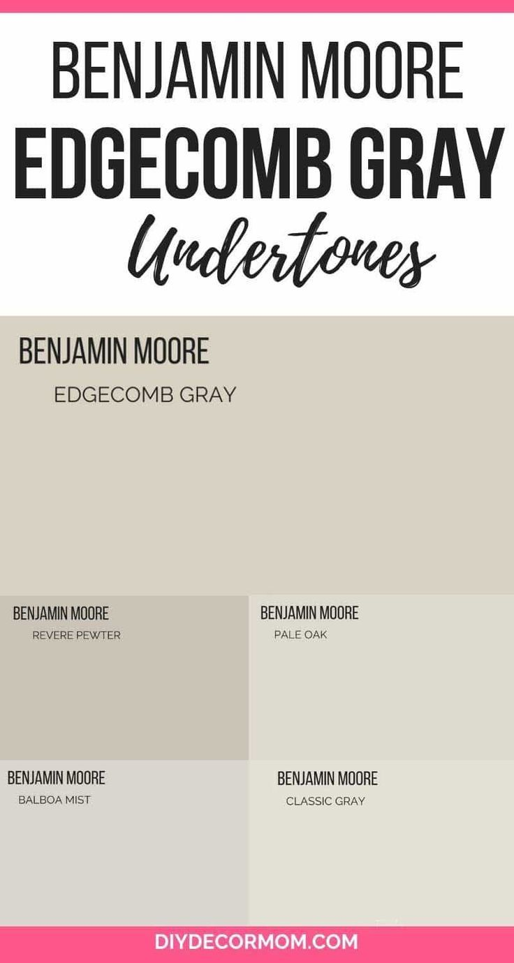 Edgecomb Gray Undertones See The Undertones Of Benjamin Moore