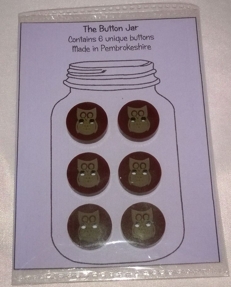 Laser cut and engraved funky owl buttons - Designed and created in Pembrokeshire, South West Wales out of 3mm thick brown acrylic.   Each button measures approximately 17.5mm x 17.5mm.
