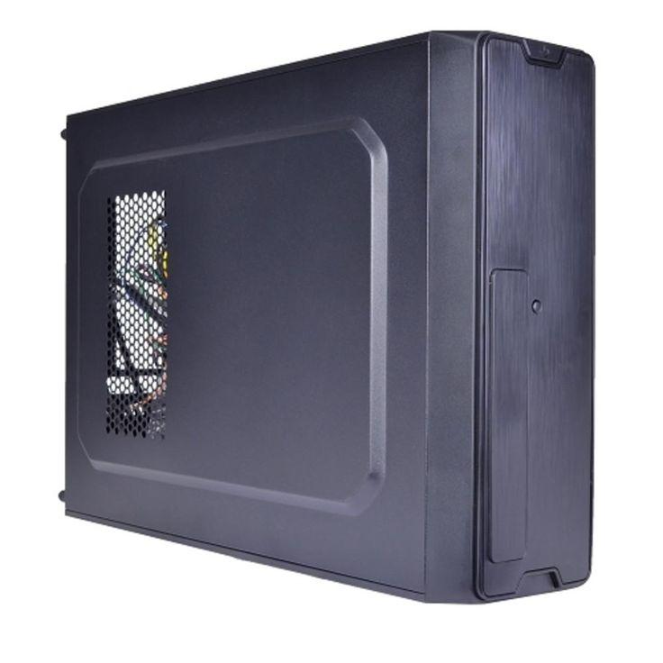 Logisys CS6801BK 3-Bay Slim mATX/Mini ITX Case w/350W 20+4-pin PSU & Card Reader (Black)