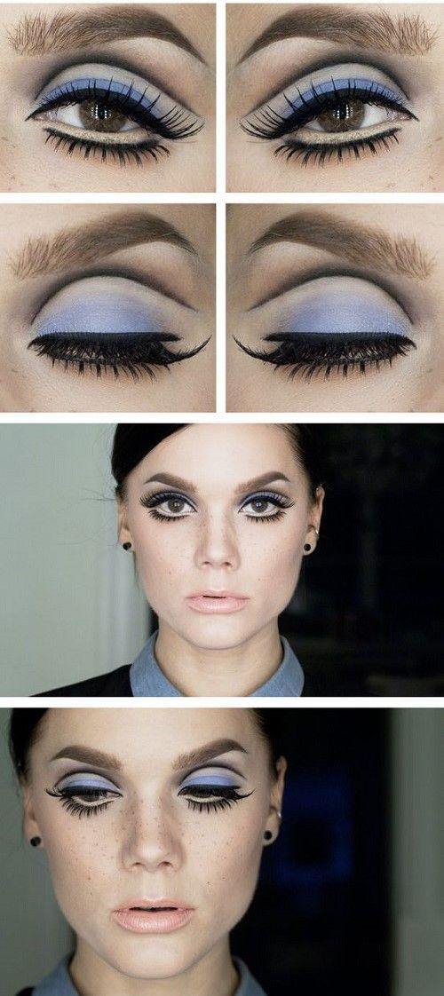 Tuto makeup yeux de biche années 60 #annees60 #maquillage #regard #yeuxmaquilles #MaquillageAnnes60 #monvanityideal