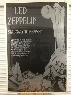 Giant Vintage Led Zeppelin Stairway To Heaven Subway Poster 60 X 40 Classic Rock Ebay Led