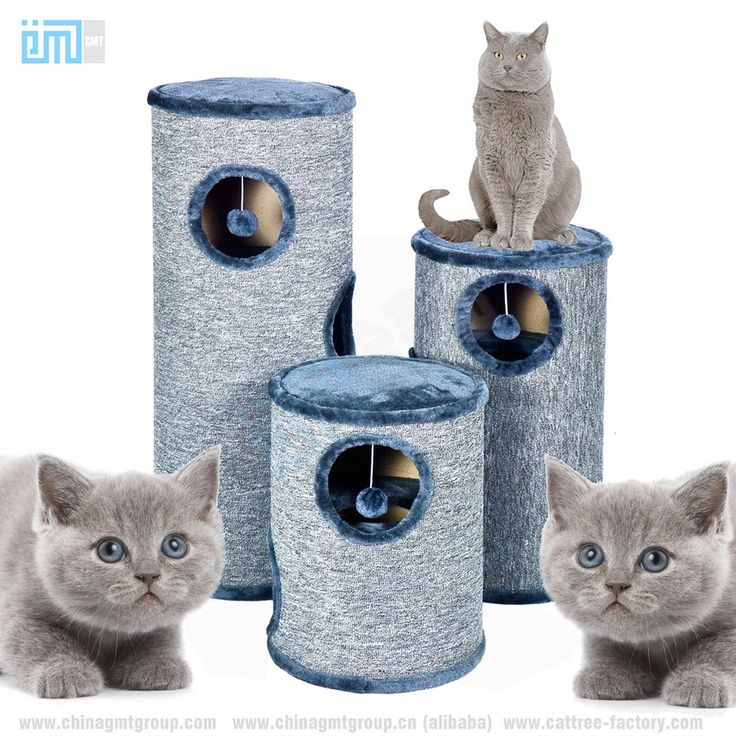New Products 2018 China Ningbo Factory Direct Cat Pet Sleeping Play Sisal Rope Plush MDF Board Cat Tree House