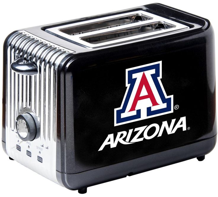 The Arizona Wildcats Toaster is cool to the touch, featuring a defrost button to thaw, an adjustable timer and auto shut off with team logos. Free Shipping - Visit SportsFansPlus.com for more details!