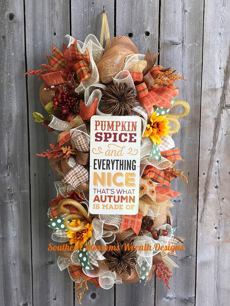 A personal favorite from my Etsy shop https://www.etsy.com/listing/546018051/fall-swag-fall-wreath-pumpkin-spice