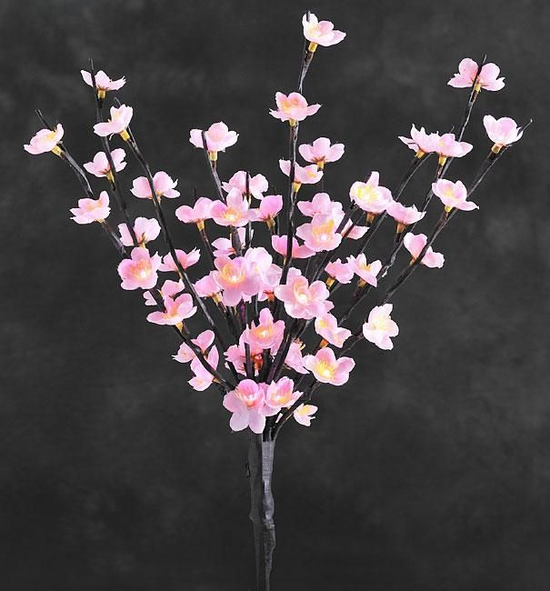 Konstsmide Pink Blossom Flower Twigs With White Led Lights