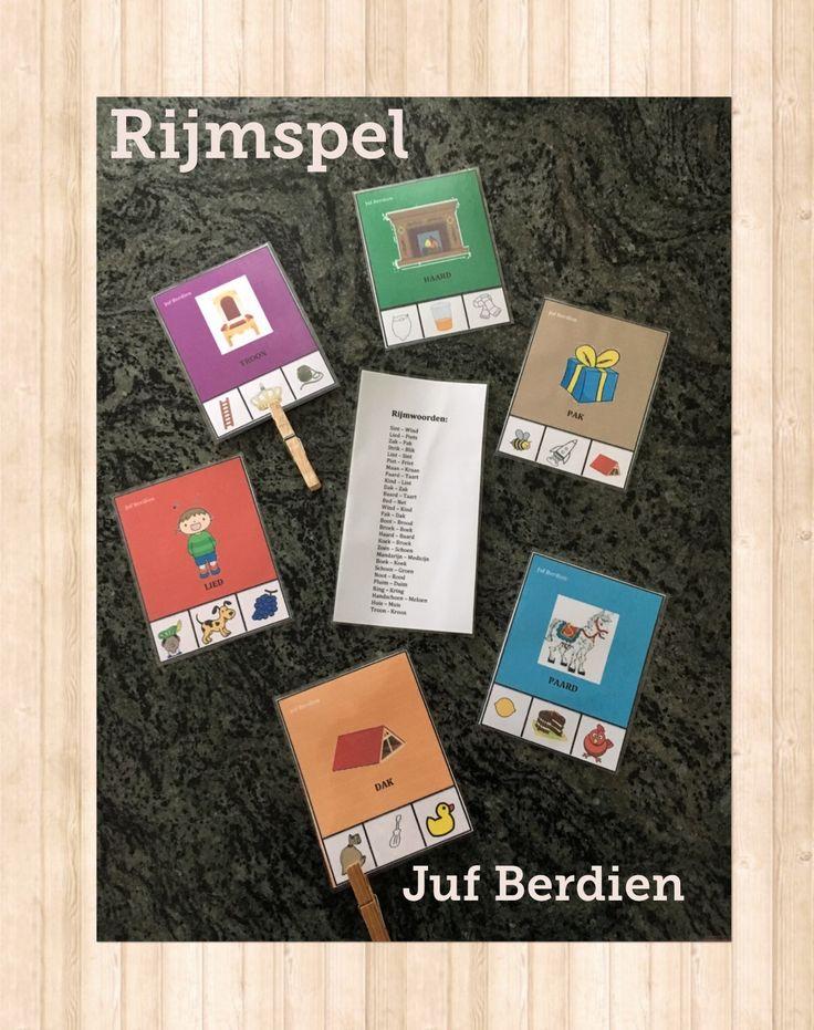 Juf Berdien Rijmspel Sinterklaas Knijpkaarten