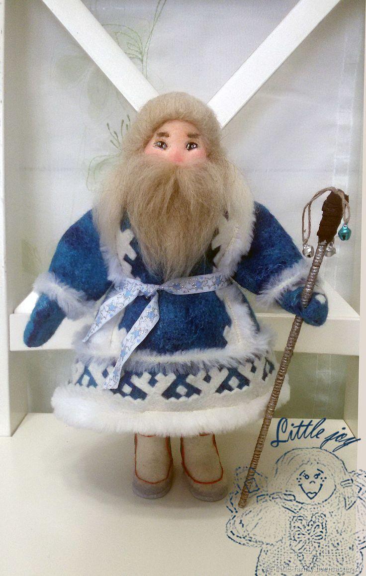 Купить Ямал Ири. ЯМАЛЬСКИЙ ДЕД МОРОЗ - игрушка, дед мороз, национальный костюм, синий