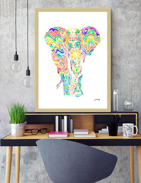 Discover «Not a circus elephant» #Limited #Edition #FineArt #Print by #Bizzartino on @Curioos