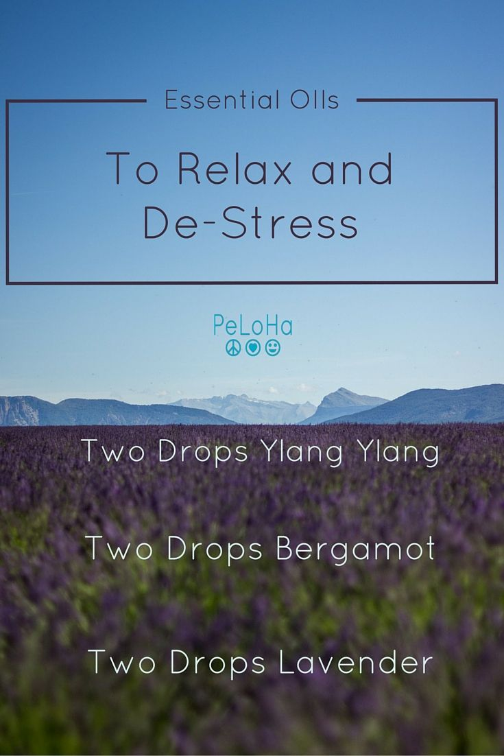 Try this easy mix of essential oils in your diffuser to relax and destress when your day feels overwhelming!