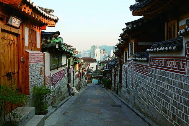 Street in Bukchon Village, Seoul by Seoul Korea, via Flickr