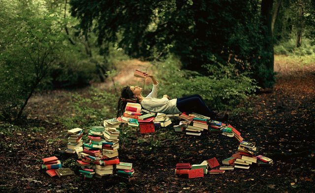 I love this photo, mostly because I love books :)
