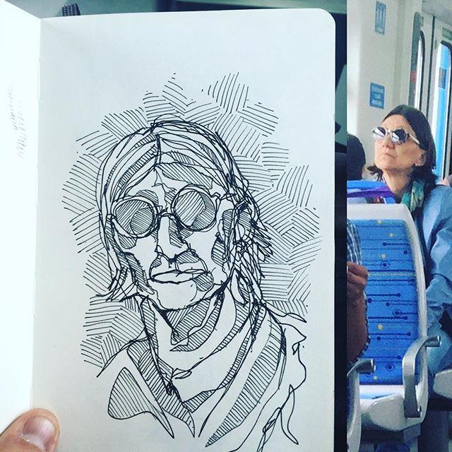 #rotringterapia #sketchbook #gentequesedibujaeneltren #boceto #dibujar #rotring #sketch