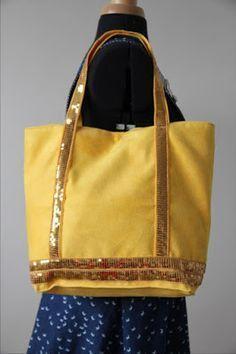 Tuto photos pour réaliser un sac à paillettes. Dimensions idéales pour sac à main, sac  à course, sac de plage... bref il est très polyvalent. Blog LaisseLuciefer.