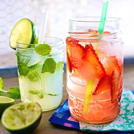 Strawberry Royal & Minz-Limetten-Limo
