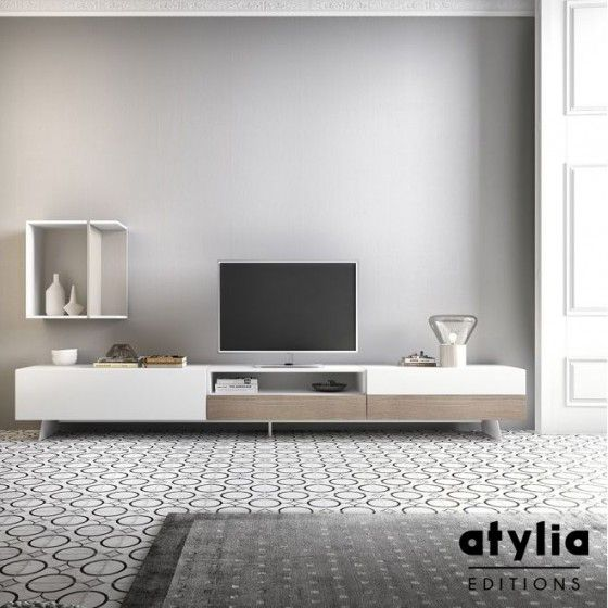 banc tv maily atylia editions - Meuble Tv Design La Redoute