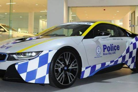 Police have get an expensive sports car and they're not afraid to use it