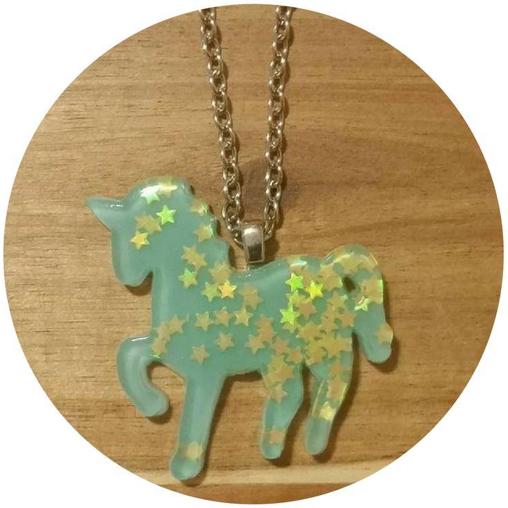 Chatterbox City - Unicorn Necklace - Aqua, $10.00 (http://www.chatterboxcity.com.au/unicorn-necklace-aqua/)