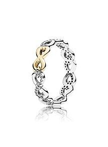 View product Pandora Two tone infinity ring