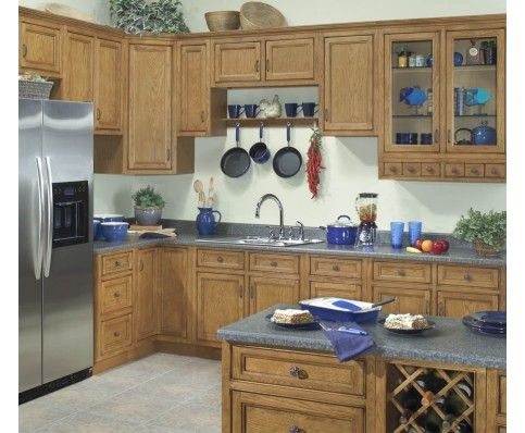 These Ready To Assemble Carmel Series Cabinets Feature All Wood  Construction In A Hand