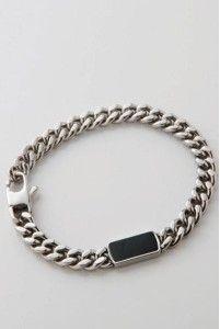 Silver bracelet for him M16B by OXXO design