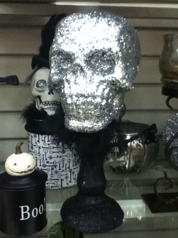 Silver Glitter Skull Decoration HomeSense Canada