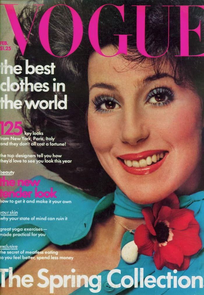 Cher For Vogue, February 1975 By Richard Avedon