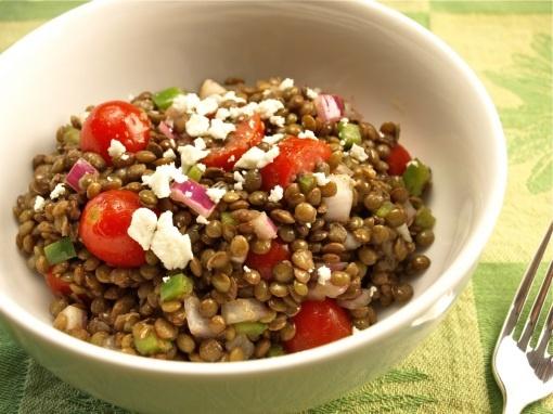 Trying to immitate Aladdin's- Mediterranean Lentil Salad