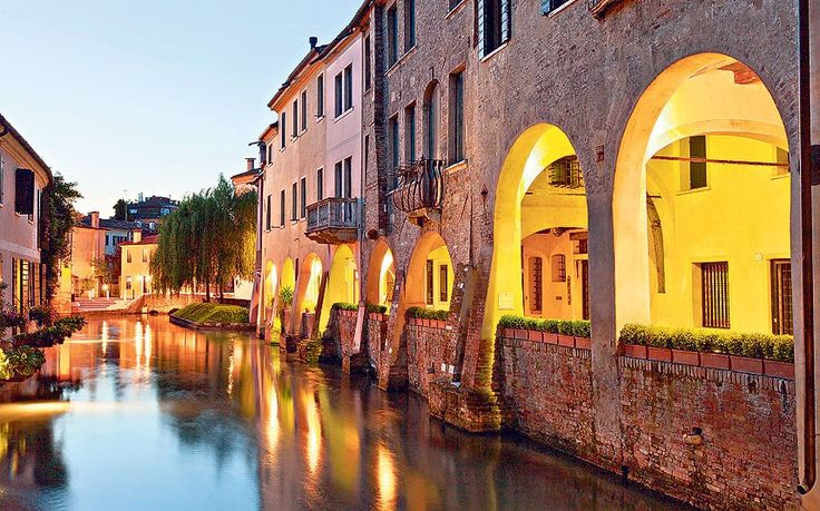 The historic centre of Treviso is a walled city in miniature, with elegant palazzi, cobbled streets and ancient waterways