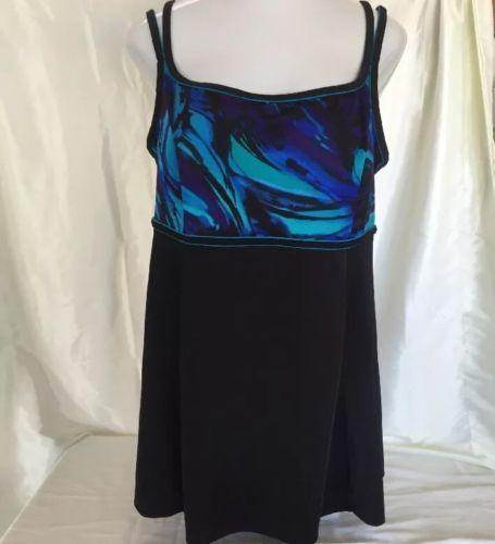 Swimsuit-22W-1-Piece-Skirt-Bathing-Suit-Longitude-Women-Long-Tall-Torso-PlusSize