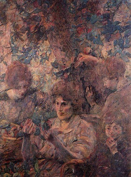 """As Maçãs"". (1921). (by Eliseu Visconti)."