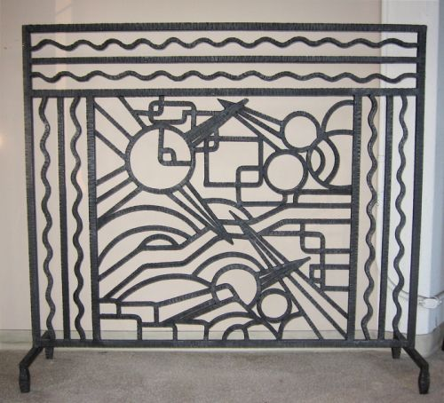 Iron Art Deco Fireplace Screen Fireplaces And Wall Ideas For Jo P