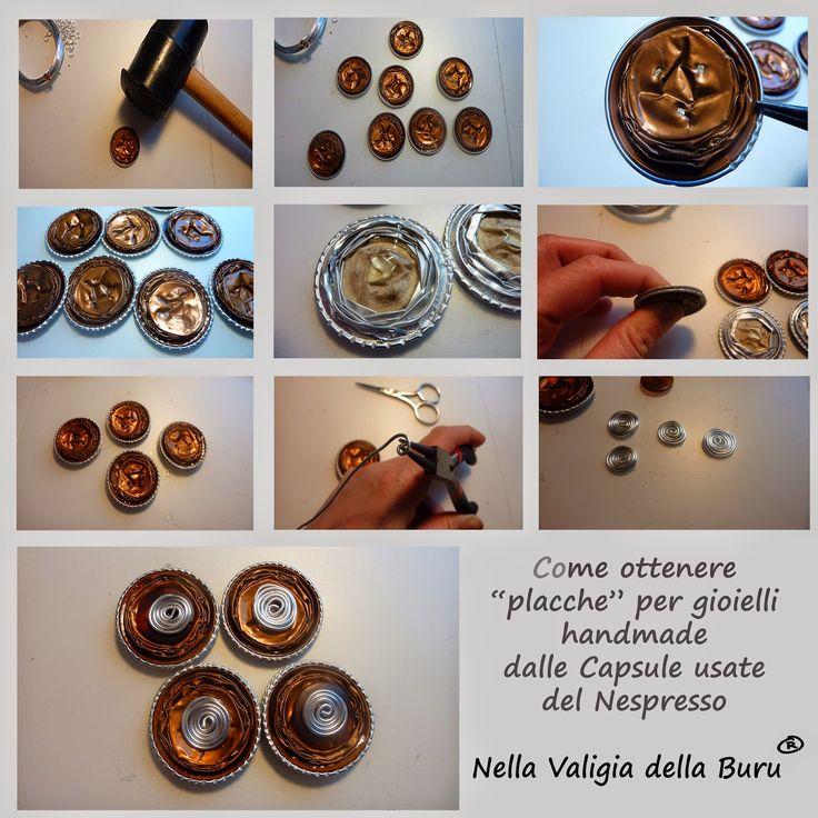 Come realizzare placche tonde per le vostre creazioni handmade con le Capsule usate del caffé nespresso