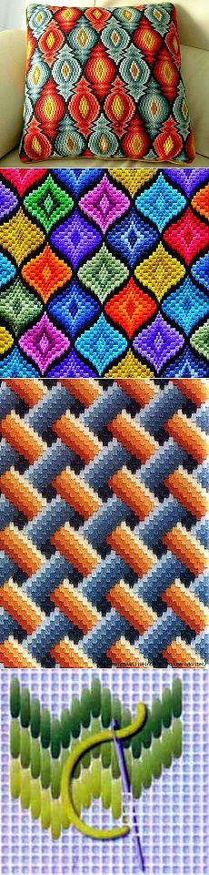 Embroidery on cloth or cross stitch fabric b4 making pillow or bag