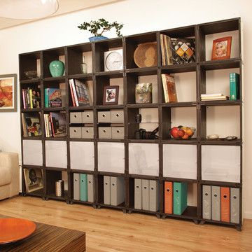 You Cubes..come sold in 35 different units for you to customize.  Idea for storage against wall with window. A place to display collections, antiques, and books.