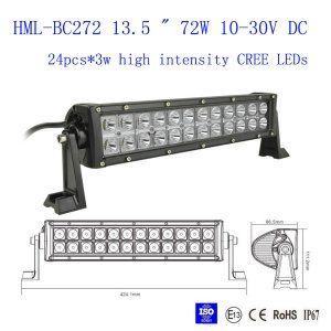 "13.5"" 72W CREE Led light bar 12 Degree SPOT light Off Road Work Light 4wd Boat White"