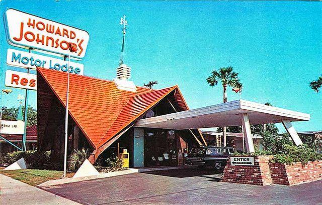 Howard Johnson's Restaurant and Motor Lodge,  Fort Walton Beach Florida, 1970's vintage postcard by stevesobczuk, via Flickr